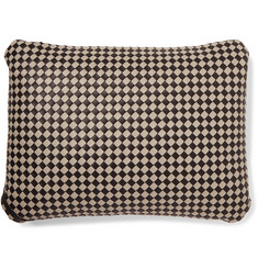 Bottega Veneta Two-Tone Intrecciato Leather Travel Pillow