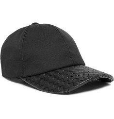 Bottega Veneta - Cotton-Blend Twill and Intrecciato Leather Baseball Cap