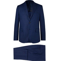 MP Massimo Piombo Navy Unstructured Linen Suit
