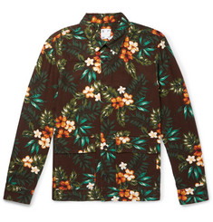 Altea Printed Cotton and Linen-Blend Canvas Blouson Jacket