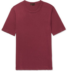 Altea Silk and Cotton-Blend T-Shirt