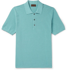 Altea Slim-Fit Ribbed Cotton Polo Shirt
