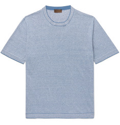 Altea - Striped Linen-Jersey T-Shirt