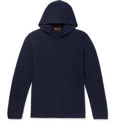 Altea Ribbed Cotton-Blend Hoodie