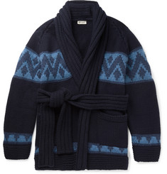 Connolly Beach Belted Intarsia Cashmere Cardigan