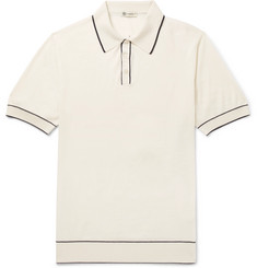 Connolly Tazio Contrast-Tipped Merino Wool Polo Shirt