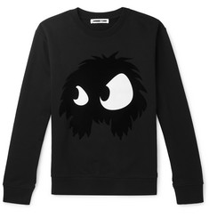 McQ Alexander McQueen - Flocked Printed Loopback Cotton-Jersey Sweatshirt