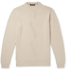 Loro Piana - Cable-Knit Cashmere, Silk and Cotton-Blend Sweater