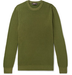 Loro Piana Garment-Dyed Ribbed Cashmere Sweater
