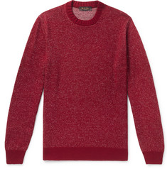 Loro Piana Mélange Linen, Cashmere and Silk-Blend Sweater