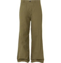 Wide Leg Cotton Canvas Chinos by Balenciaga
