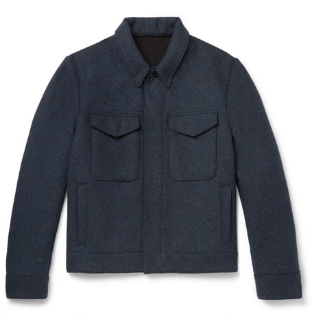 MR P. Mélange Felt Blouson Jacket - Charcoal