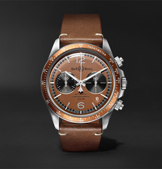 Bell & Ross + Revolution Bellytanker Dusty Limited Edition Chronograph 41mm Steel and Leather Watch