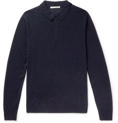 SALLE PRIVÉE Isaac Slim-Fit Wool Polo Shirt