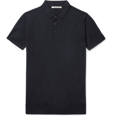 SALLE PRIVÉE Eliel Knitted Wool and Cashmere-Blend Polo Shirt