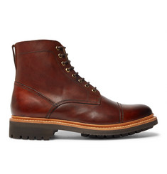 444f75157ed Grenson Joseph Cap-Toe Burnished-Leather Boots