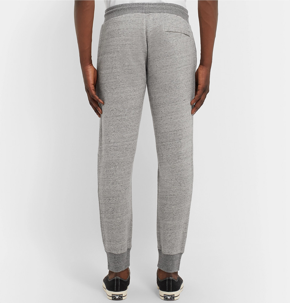 Mr P. Tapered Mélange Loopback Cotton-Jersey Sweatpants