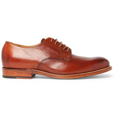 Grenson Liam Burnished-Leather Derby Shoes