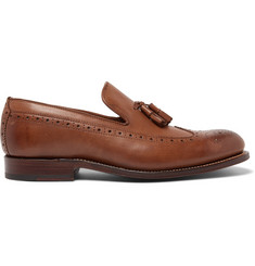 Grenson Lucien Burnished-Leather Tasselled Loafers