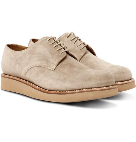 Curt Suede Derby Shoes - Beige