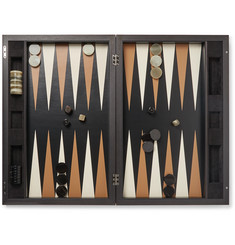 Berluti Indian Rosewood, Leather and Ebony Backgammon Set