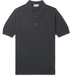 John Smedley Roth Sea Island Cotton-Piqué Polo Shirt