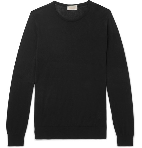Cashmere John Blend Smedley Fit Sea Theon Slim Island And Sweater Cotton qf4qpF