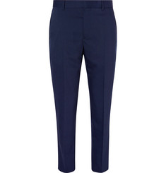 Joseph Navy Jack Slim-Fit Wool-Blend Trousers