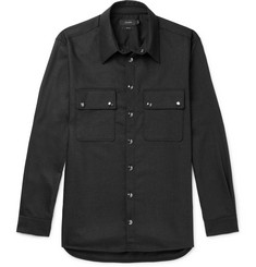 Joseph Weston Wool-Blend Flannel Shirt