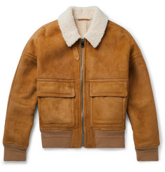 Joseph York Shearling Bomber Jacket