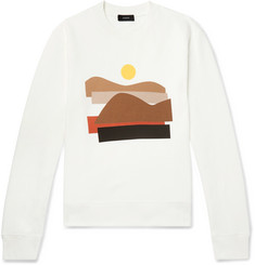Joseph Printed Fleece-Back Cotton-Jersey Sweatshirt
