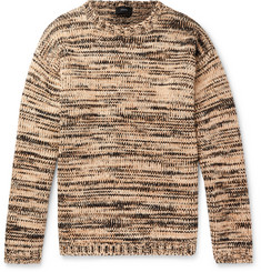 Joseph Oversized Mélange Cotton and Wool-Blend Sweater