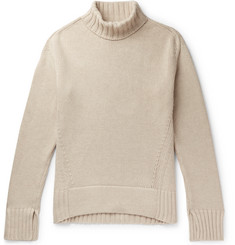 Joseph Sloppy Joe Oversized Ribbed Cotton-Blend Rollneck Sweater