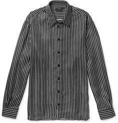 Oversized Pinstriped Satin Shirt by Joseph