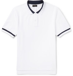Joseph Slim-Fit Contrast-Tipped Cotton-Piqué Polo Shirt