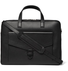 William & Son Pebble-Grain Leather Briefcase