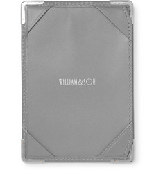William & Son - Silver Tone-Trimmed Leather Mini Jotter Pad
