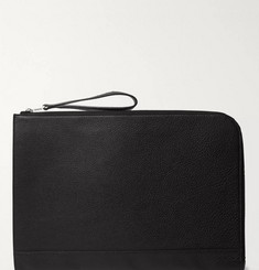 William & Son - Bruton Textured-Leather Pouch