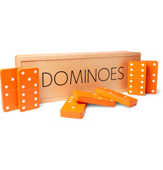 William & Son - Leather and Maple Wood Carpet Dominos Set