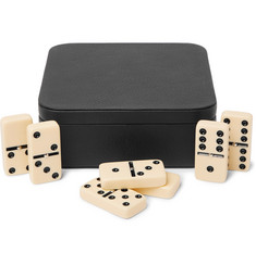 William & Son Leather Dominos Set