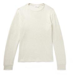 Mélange Cotton-jersey Sweatshirt - Cream