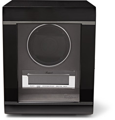 Rapport London - Lacquered Ebony and Glass Watch Winder