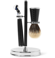 Lorenzi Milano - Three-Piece Carbon-Fibre Shaving Set