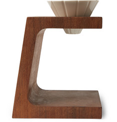 bi.du.haev - Wood and Porcelain Pour-Over Coffee Stand
