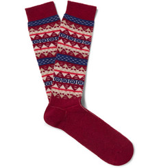 Anonymous Ism - Fair Isle Jacquard-Knit Socks