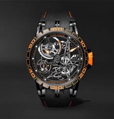 Roger Dubuis - Excalibur Spider Pirelli Limited Edition Automatic Skeleton 45mm Titanium and Rubber Watch
