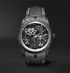 Roger Dubuis Excalibur Automatic Skeleton 42mm Titanium and Leather Watch