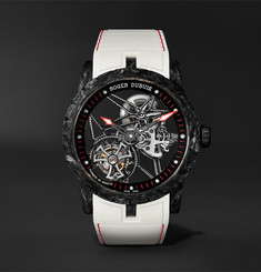 Roger Dubuis Excalibur Skeleton Flying Tourbillon 42mm Carbon and Rubber Watch, Ref. No. DBEX0577