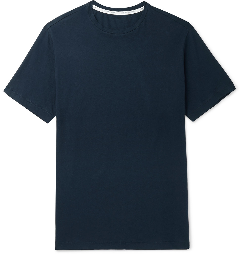 Relax Cotton And Cashmere-blend T-shirt - Navy