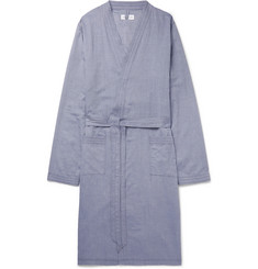 Hamilton and Hare Cotton-Chambray Robe